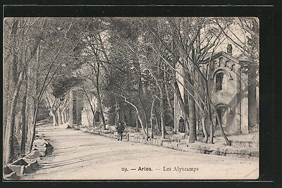 splendide CPA Arles, les Alyscamps