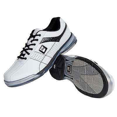 Mens TPU X Bowling Shoes with Interchangeable Soles/Heels White/Blk Size 9