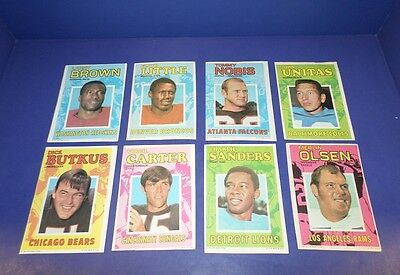 1971 Topps Posters Inserts Football Complete Set *53512