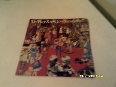 Band Aid Do They Know its Christmas 45rpm Single