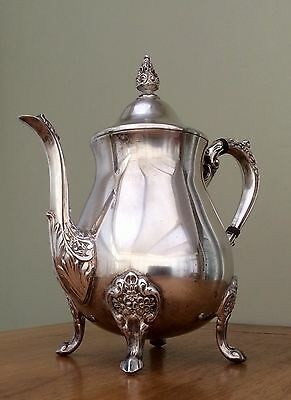 Antique Viners Of Sheffield Ornate Silver Plated Tea Pot C.1920
