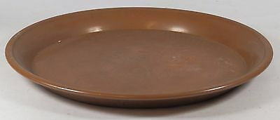 Vintage Round Copper Tray / Plate with Etched Oriental Design