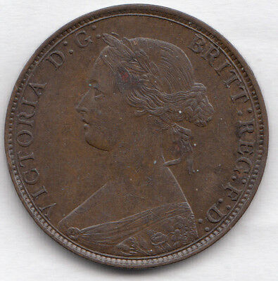 1861 Victoria Halfpenny Ef F279 Very Rare R12 Spink3956 Lovely Coin