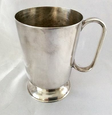 Antique Silver Plated Footed  1 Pint Beer Mug Henry Bourne Birmingham C.1900