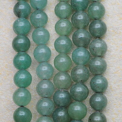 6Mm Natural Green Aventurine Gemstone Round Beads Strand(1 Strand) 15 1/2""