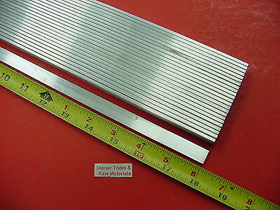"24 Pieces 1/8"" X 1/2"" ALUMINUM 6061 FLAT BAR 18"" long T6511 .125"" New Mill Stock"