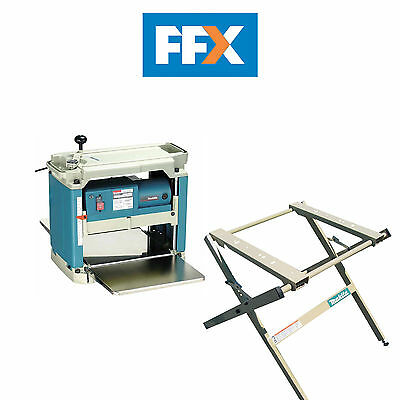 Makita 2012NBX 110v Planer Thicknesser with 194053-0 Stand