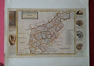 antique map of Northamptonshire