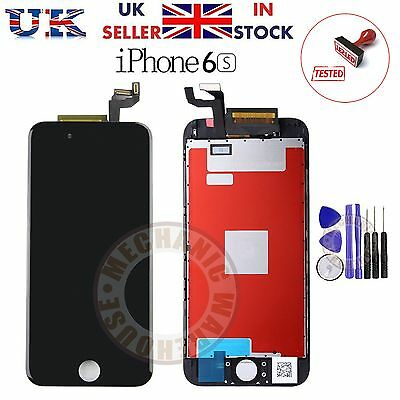 """For Apple iPhone 6S 4.7"""" LCD Display Touch Screen Digitizer Black Replacement UK"""