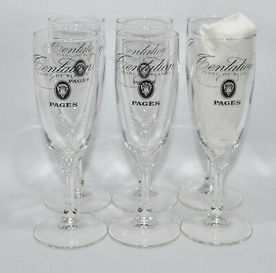 "PAGES CREME CASSIS 6 Verres Kir Royal 10 cl ""Tentation Blanc de Blancs"" NEUF"