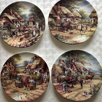 Bradford Exchange / Wedgwood 4 Country Days Collectors Plates