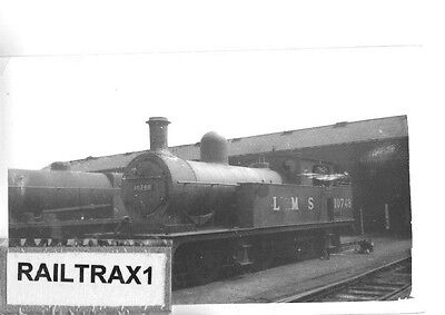 Railway Steam Photograph - 10748 At A Shed In Lancashire? (Old Darkroom Photo!).
