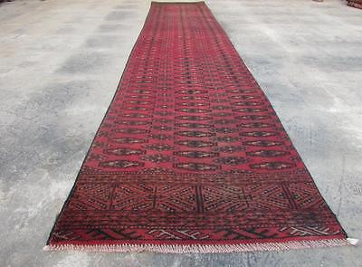 2'4X12'11 hand knotted tribal Persian Rug Vintage Woolen  Oriental Carpet  41