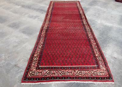 3'8X10'7 hand knotted tribal Persian Rug Vintage Woolen  Oriental Carpet  43