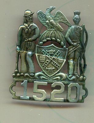 ***Early OBSOLETE NEW YORK subway Police Numbered HAT BADGE -