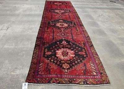 3'9X13'5 hand knotted tribal Persian Rug Vintage Woolen  Oriental Carpet  51