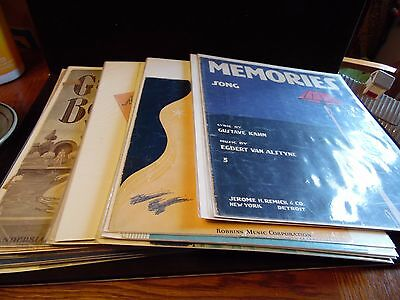 Vintage Lot of 35 Pieces Of Sheet Music