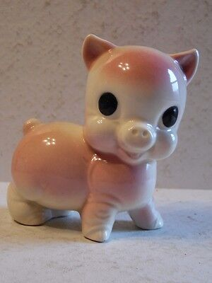 """Vintage Standing Pink Pig 1945 Renaker Pottery 4 1/4"""" Tall"""