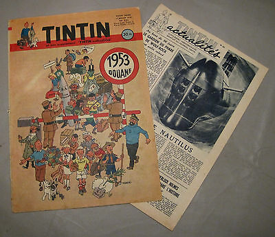 Collection. Journal Tintin N°221. Edition Francaise .1953. Herge