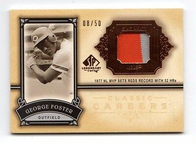 George Foster Mlb 2005 Sp Legendary Cuts Classic Careers Patch #/50 (Reds,