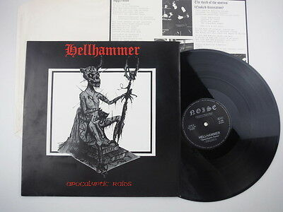 """Hellhammer,Apocalyptic Raids,Very rare German first press,4 track EP,12"""""""