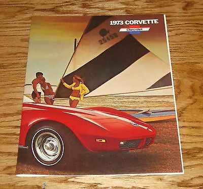 Original 1973 Chevrolet Corvette Fact Sheet Sales Brochure 73 Chevy