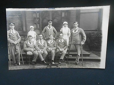WW1 R.P.Postcard WOUNDED SOLDIERS & NURSES Northern General Hospital Leicester?