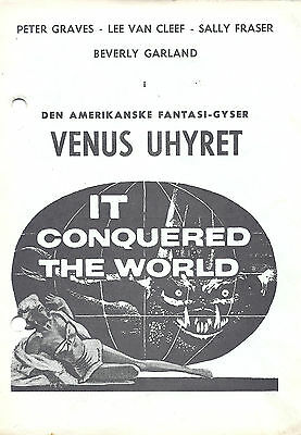 IT CONQUERED THE WORLD Danish Program Double Herald PETER GRAVES BEVERLY GARLAND