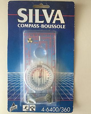 Vintage SILVA Compass, 4-6400/360, New in Sealed Packet