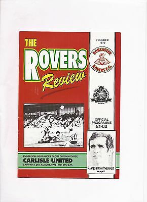 Doncaster Rovers  v  Carlisle United, 21st August 1993