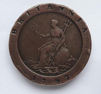 George III Cartwheel Penny 1797 Please see pictures for condition etc