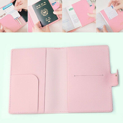 Sweet Bowknot Crown Buckles Passport Holder Protect Cover Case Organizer New