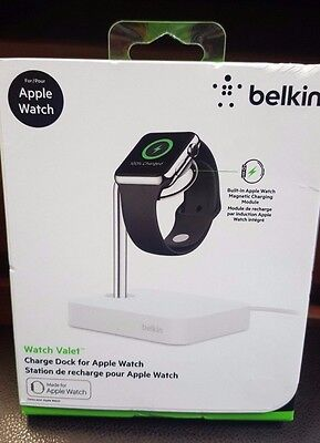 *NEWSEALED* Belkin Watch Valet Charge Dock & Stand for Apple Watch (F8J191BTWHT)