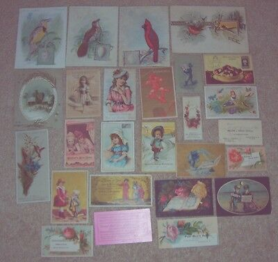Vintage Lot Victorian Trade Cards (26) #bb