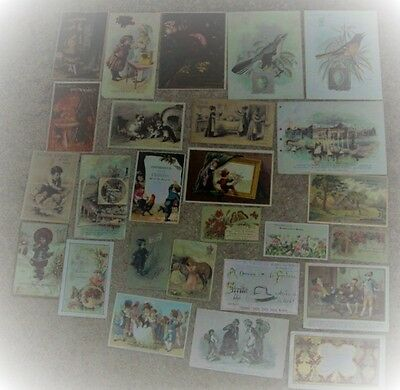 Vintage Lot Victorian Trade Cards (26) #cc