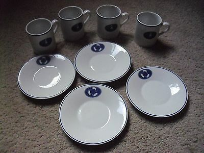 4 Lighthouse Coffee Cups and Saucers