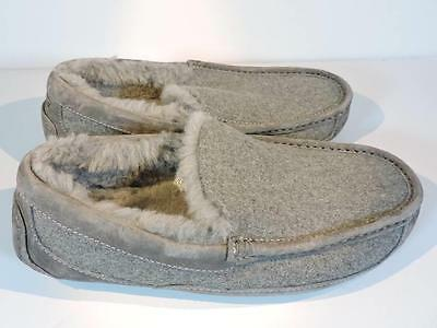 UGG Australia Men's Gray Ascot Suede Wool Slippers Size 9 Style #3233 NEW