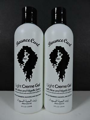 Bounce Curl Light Creme Gel with Aloe for Curly Hair (8oz 238ml) NEW 2-Pack