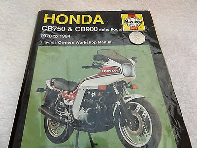 haynes manual HONDA CB750 CB 900 1978 TO 1984 dohc fours
