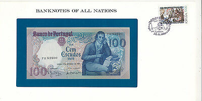 Franklin Mint Banknotes of all Nations Portugal 100 Escudos P-178a