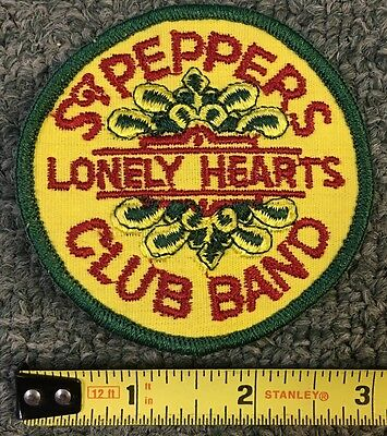 1960S Vintage Beatles * Sgt Peppers Lonely Hearts Club Band* Embroidered Patch