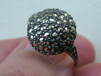 Silver Old Marcasite Ring