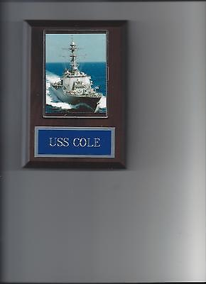 Uss Cole Plaque Navy Ddg-67 Guided Missile Destroyer Us Usa Military Ship