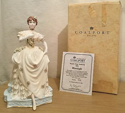 Coalport English Rose Collection Moonlight Figurine Rare 1995 Boxed With Coa