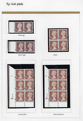 SPECIALISED COLLECTION OF UNMOUNTED MINT 5p MACHINS