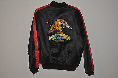 RINGLING BROS AND BARNUM & BAILEY CIRCUS 1990-91 Tour Satin Jacket With Logo XL