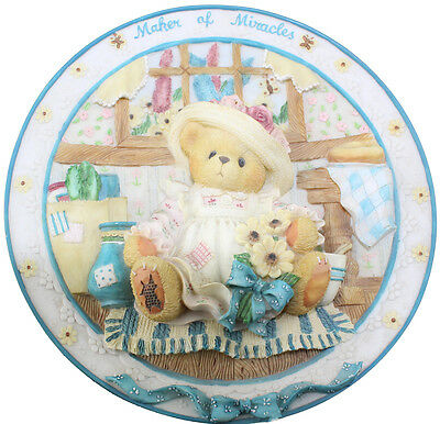 Cherished Teddies Mum Maker of Miracles Plate 303046E Boxed