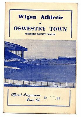 1966-1967 Wigan Athletic v Oswestry Town    POST FREE