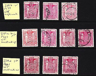 NZ  Collection of 10/- used ARMS stamps Cat £35+ (see desc)