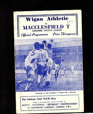 1965-1966 Wigan Athletic v Macclesfield Town    POST FREE